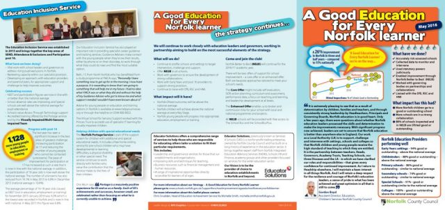 thumbnail of A good education for every Norfolk learner leaflet