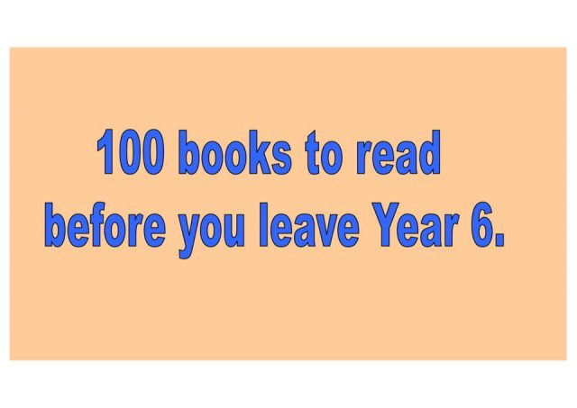 thumbnail of 100 books to read – title and covers